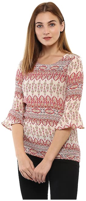 Mayra Women Printed Regular top - White