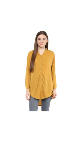 Mayra Women's Crepe Long Shirt