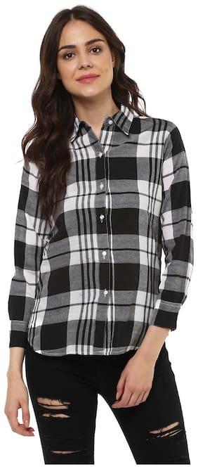 Mayra Women Multi Checked Regular Fit Shirt