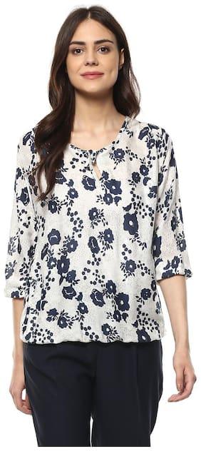 Mayra Women Printed Regular top - White
