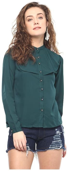 Mayra Women Solid Regular top - Green