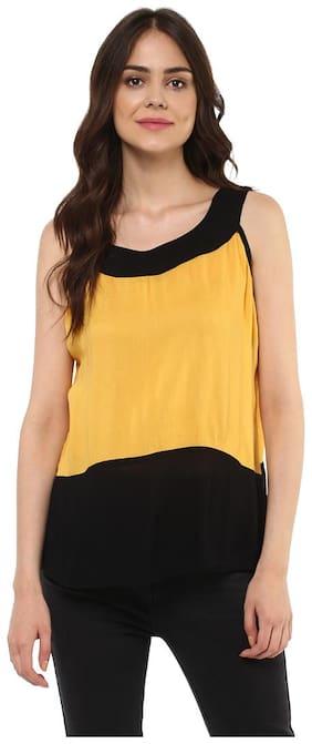 Mayra Women Solid Regular top - Orange