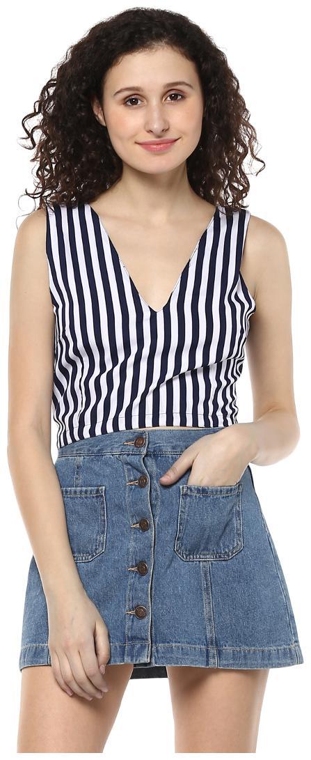 Mayra Women Striped Regular top   Pink