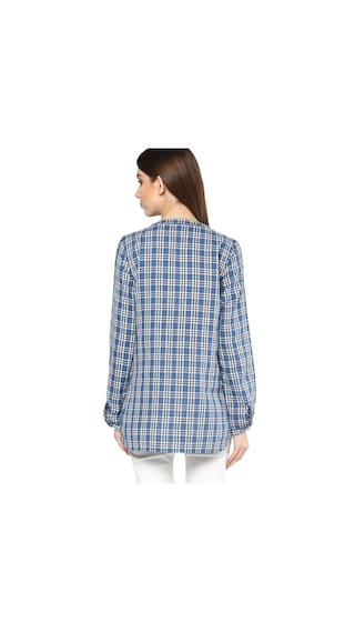 Mayra Check Shirt Cotton Boyfriend Women's Print 6xvn6Z