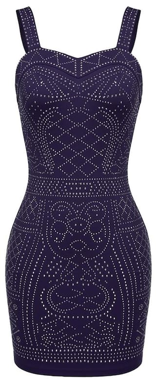 Meaneor Women Sleeveless Sexy Stretch Bodycon Sequin Party Evening Dress
