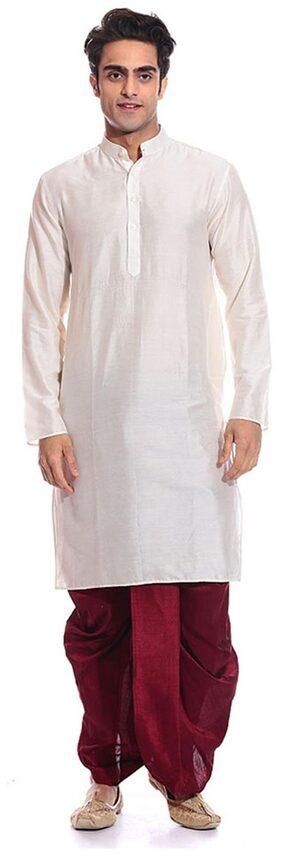 Mehta Apparels Blended Dhoti - White