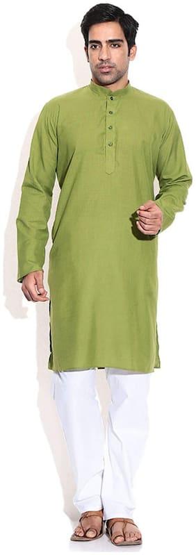Mehta Apparels Green Cotton Kurta Pyjama