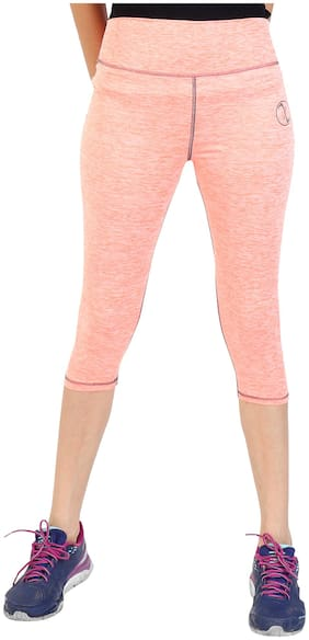 XENCAT Women Self design Regular capri - Peach