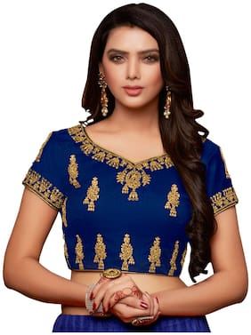 Melluha Banglori Net Stitched Customizable(32 to 42) Blouse with Santoon Inner and sleeves