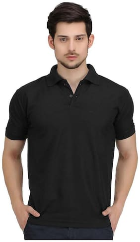 Melluha Black Plain Polo Tshirt
