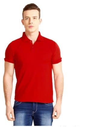 Melluha Red Plain Polo Tshirt