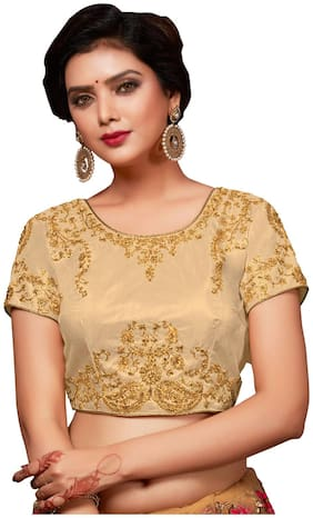 Melluha Zilmill Net Stitched Customizable(32 to 42) Blouse with PC Cotton Inner and sleeves