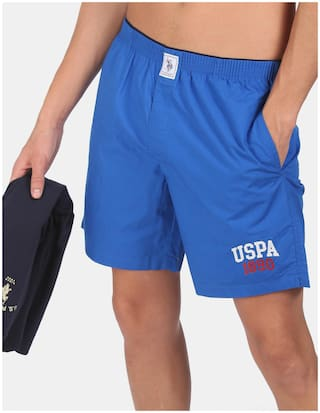 U.S. Polo Assn. Solid Boxers - Blue