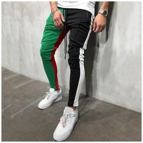 Chrome & Coral Men Multi Solid Regular fit Track pants
