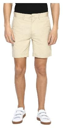 Red Tape Men Beige Slim Fit Regular Shorts