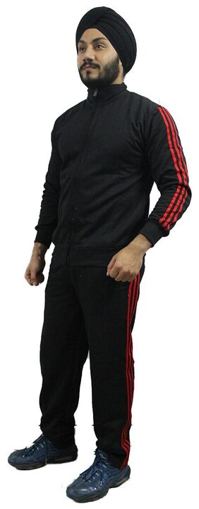 AMIHART Men Fleece Track Suit - Black