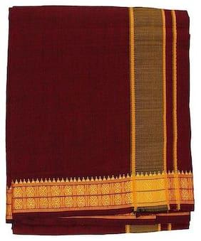 THARUN Blended Solid Mundu & Regular dhoti Dhoti - Maroon