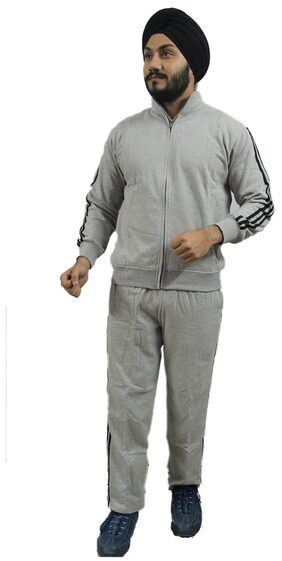 AMIHART Men Fleece Track Suit - Grey