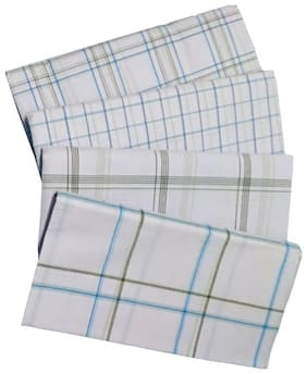 THARUN Cotton & Handloom Checked Regular dhoti Dhoti - White