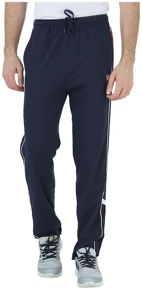 HUMBERT Men Poly cotton Track Pants - Blue