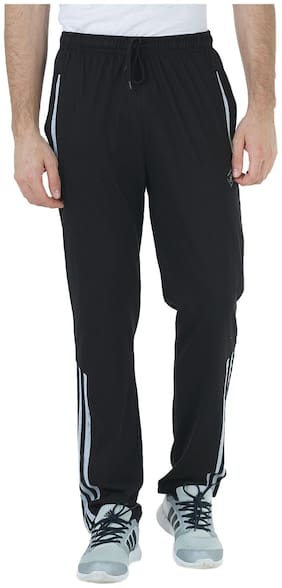 HUMBERT Men Poly cotton Track Pants - Black