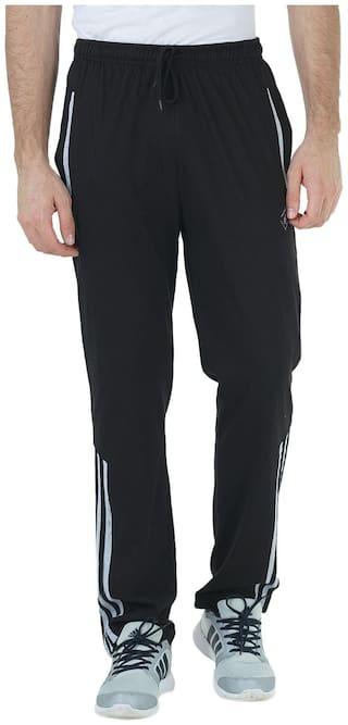 HUMBERT Men Poly cotton Track Pants - Black