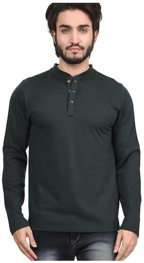 Men Mandarin Collar Printed T-Shirt