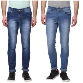 Men's Slim Fit Stretchable Jeans Pack of 2 Combo SIDE POCKET