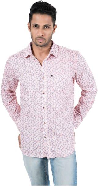 FAVIO Men Pink Floral & Printed Slim Fit Casual Shirt