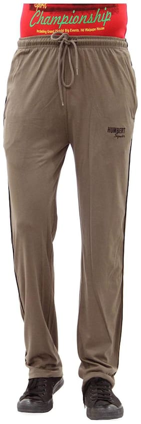 HUMBERT Men Cotton Track Pants - Brown