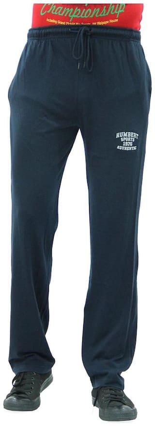 HUMBERT Men Cotton Track Pants - Blue