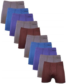 Men Cotton Solid Underwear ,Pack Of 10