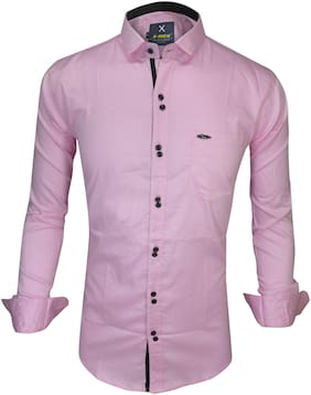 X-MEN Men Purple Solid Slim Fit Casual Shirt