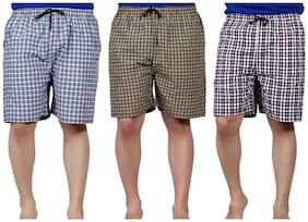 Stylus Men Blue Slim Fit Regular Shorts