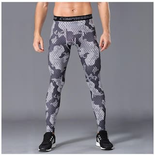 42b3cb4c90fd6 Mens Compression Base Layer Pants Tight Long Leggings Under Skin Gym Sports  Gear (2#