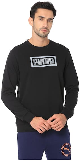 Puma Men Cotton Sweatshirt - Black