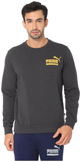 Puma Men Cotton Sweatshirt - Grey
