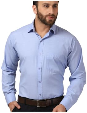 Mesh Men Slim fit Formal Shirt - Blue