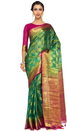 Organza Kanchipuram Silk Saree