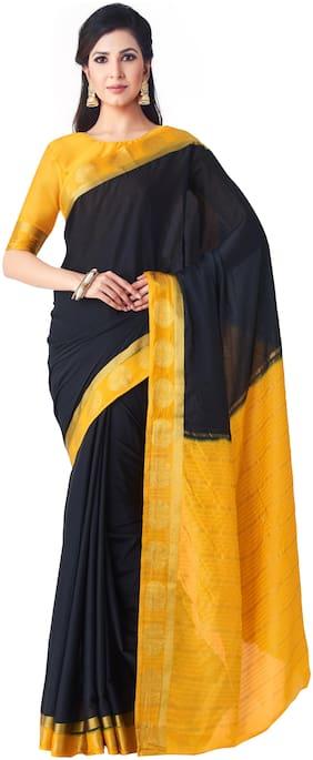 Crepe Kanchipuram Silk Saree ,Pack Of 1