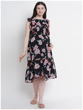 Mine4Nine Women Maternity Dress - Black M