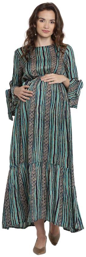 Mine4Nine Women Maternity Dress - Green M