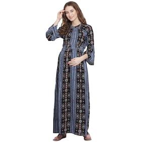 Mine4Nine Women Maternity Dress - Black S
