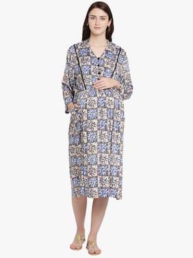 Mine4Nine Women Maternity Dress - Multicolor L