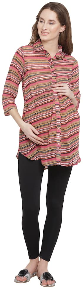 Mine4Nine Women Maternity Top - Pink S