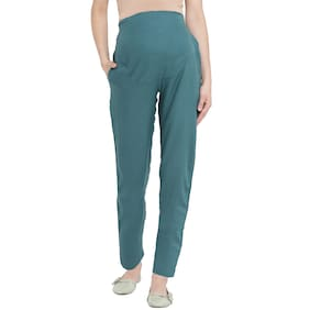 Mine4Nine Women Maternity Trousers - Green L