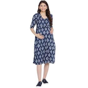 Mine4Nine Women Maternity Dress - Navy L