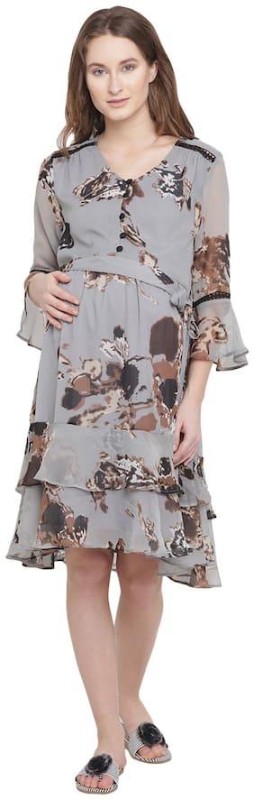 Mine4Nine Women Maternity Dress - Grey S