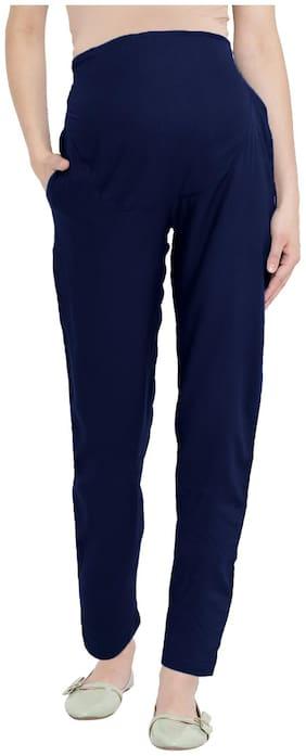 Mine4Nine Women Maternity Trousers - Navy S