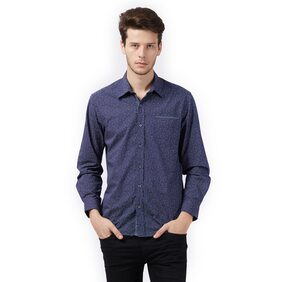 MINT & COTTON Men Slim Fit Casual shirt - Blue